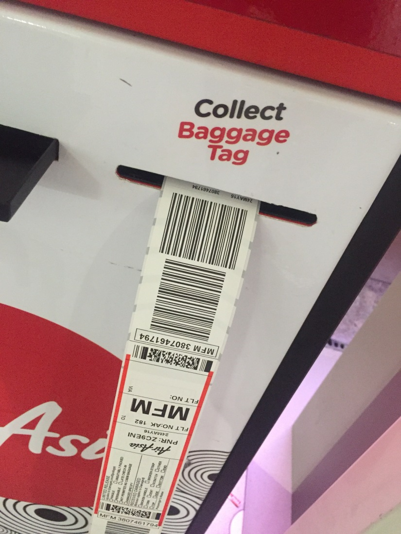 AirAsia New Self Check In & Bag Tag Service